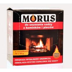 Bros Morus proszek do usuwania sadzy 10x50g kominków piecy