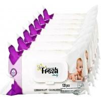 CHUSTECZKI nawilżane  Fresh Baby 18 op x 120szt