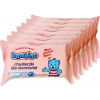 BAMBINO Chusteczki nawilżane dla niemowląt 7 x 63szt.