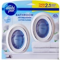 Ambi Pur odświeżacz do łazienki 2x7,5ml DUO Cotton Flower