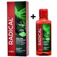 Radical zestaw Peeling do skóry głowy + szampon